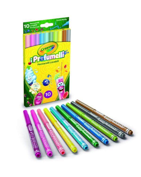 CRAYOLA - 10 PENNARELLI PUNTA MEDIA LAVABILI I PROFUMELLI - Crayola