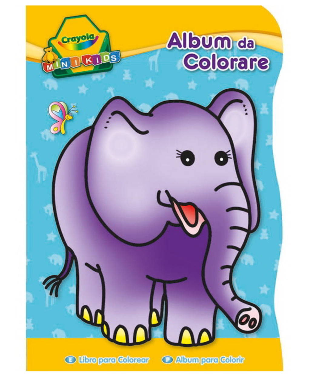 Crayola - album da colorare sagomati mini kids 3 soggetti - Crayola