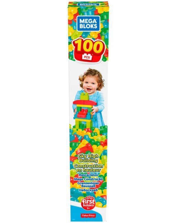 MEGA PLOCK - 100 BLOCCHI DA COSTRUZIONE - Mattel
