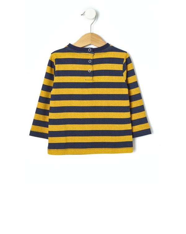 T-shirt rigata con stampa - Prénatal
