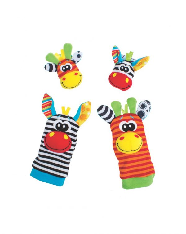 PLAYGRO - JUNGLE WRIST RATTLE AND FOOT FINDER - Playgro