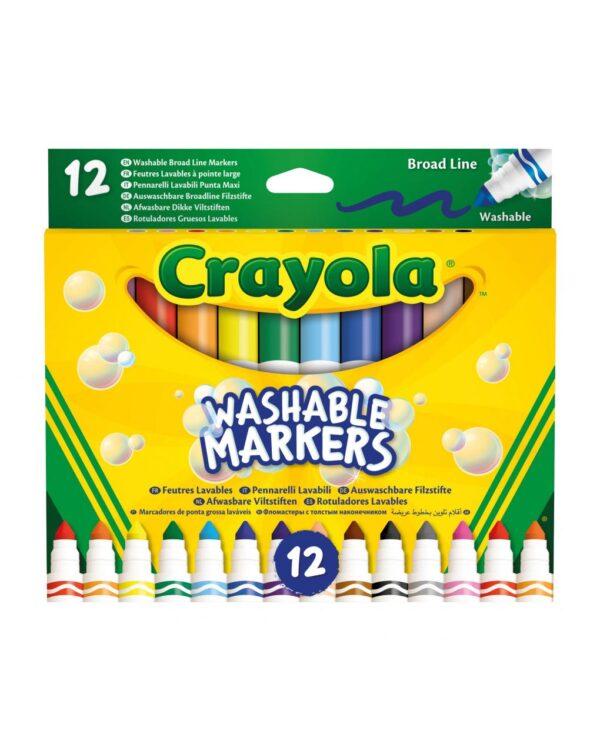 CRAYOLA - 12 PENNARELLI PUNTA MAXI LAVABILI - Crayola