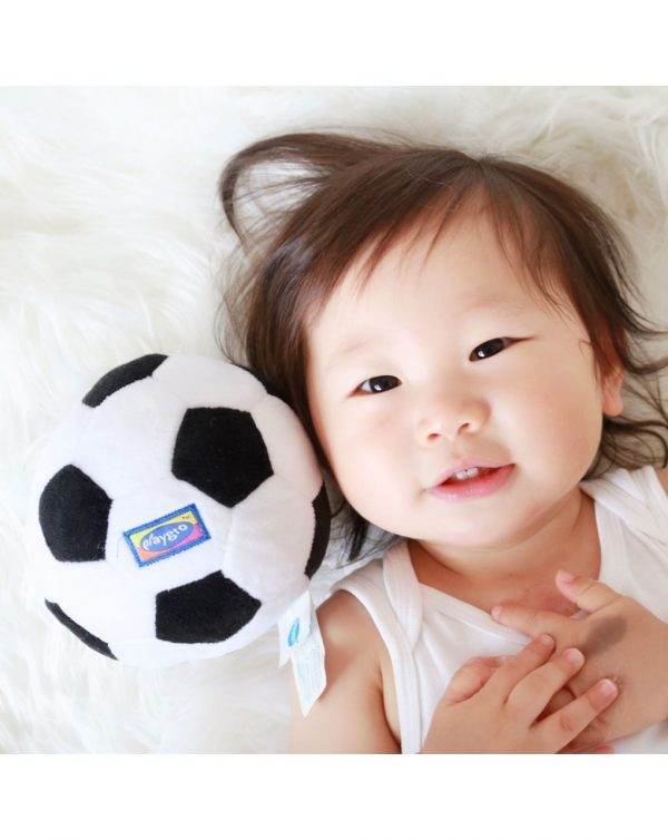 PLAYGRO - MY FIRST SOCCER BALL (BLACK AND WHITE) - Playgro