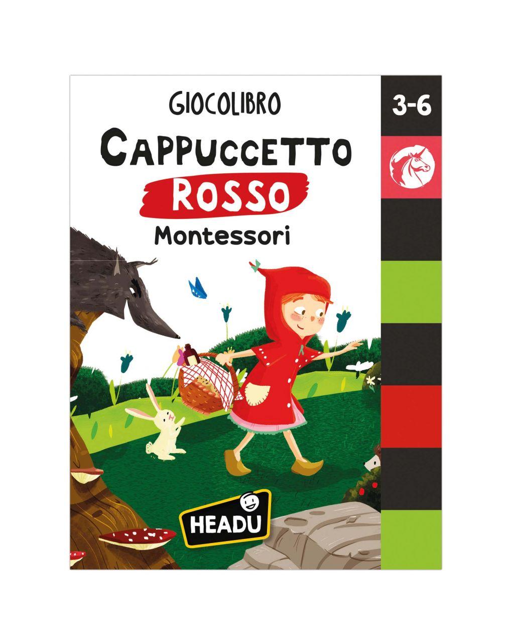 Headu - giocolibro cappuccetto rosso montessori - Headu