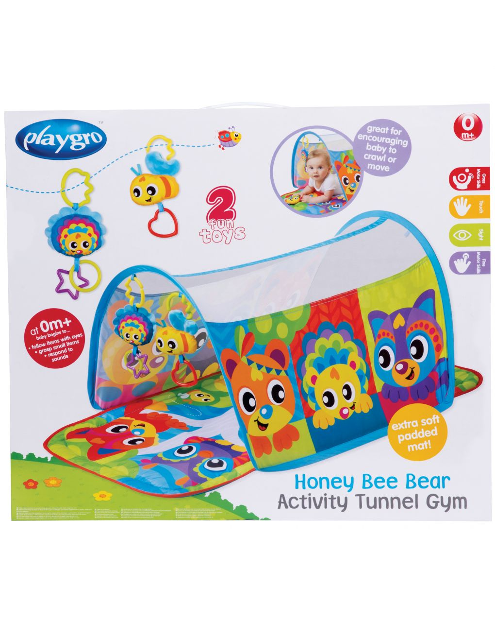 Playgro - honey bee bear activity tunnel gym - Playgro