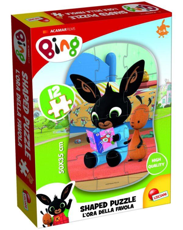 BING MY FIRST SHAPED PUZZLE 12 - L'ORA DELLA FAVOLA - Bing