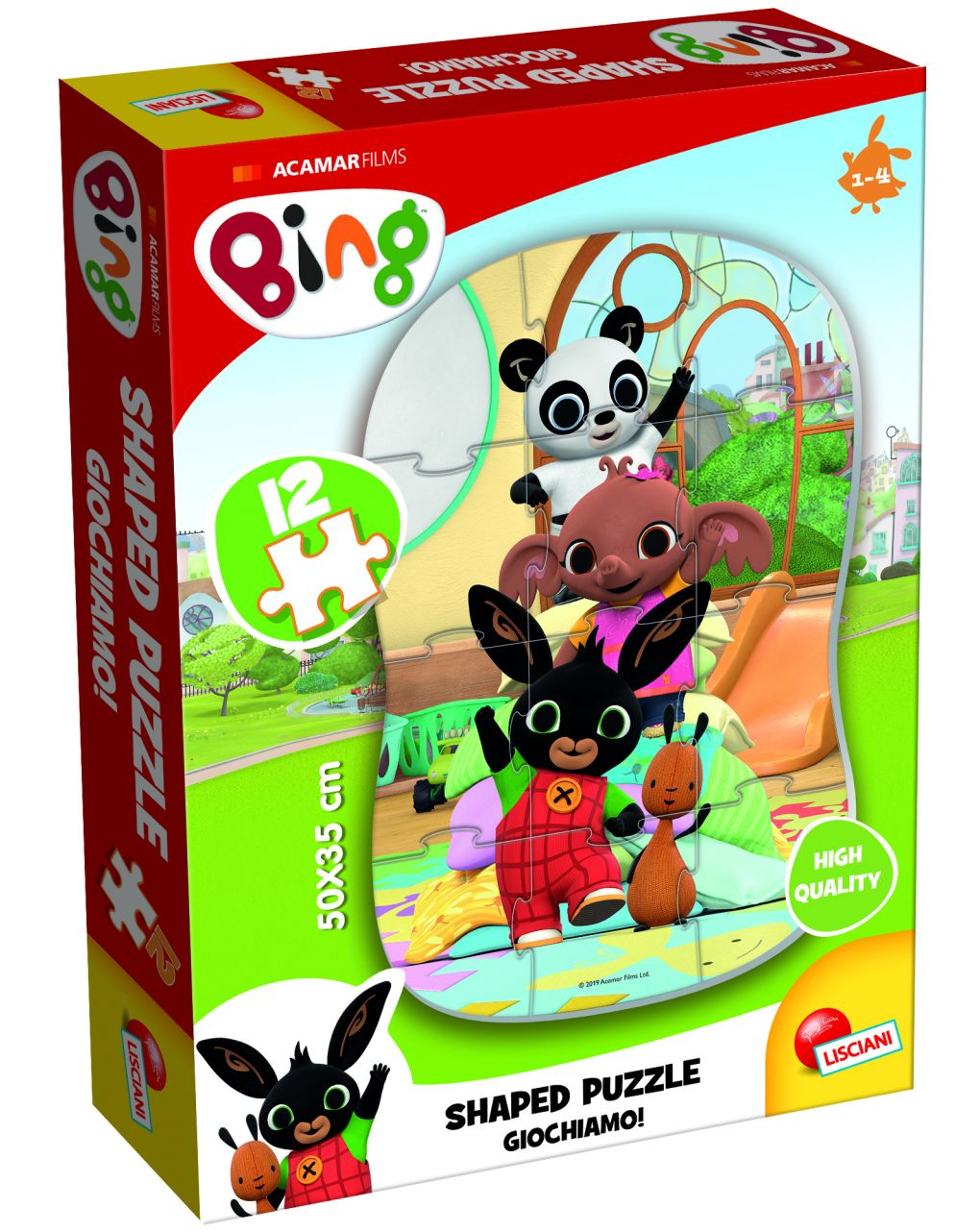Bing my first shaped puzzle 12 - giochiamo! - Bing