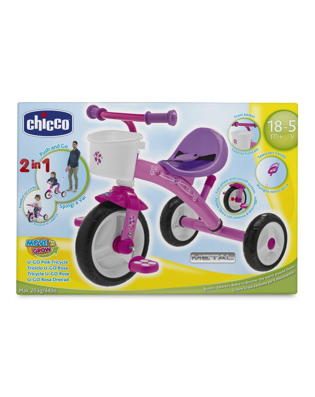 Chicco - triciclo u-go rosa - Chicco