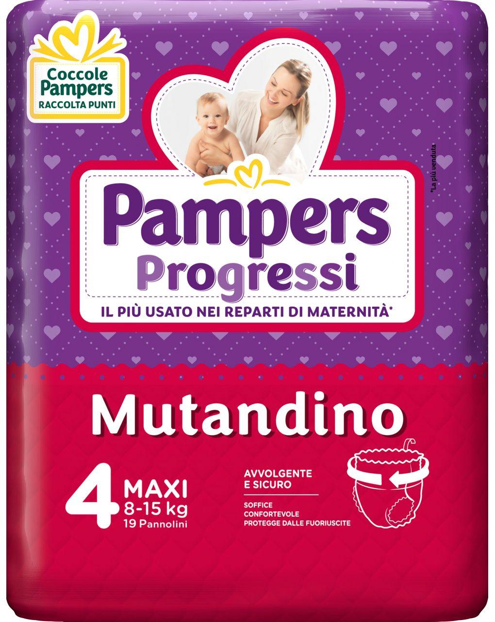 Pampers - pannolino progressi mutandino tg. 4 (19 pz) - Pampers