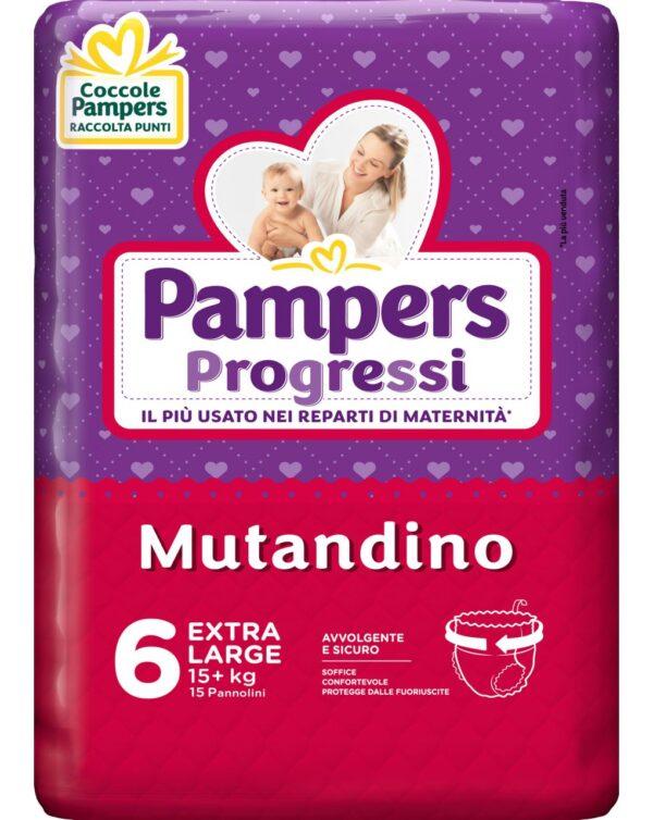 Pampers - Pannolini Progressi Mutandino tg. 6 (15 pz) - Pampers