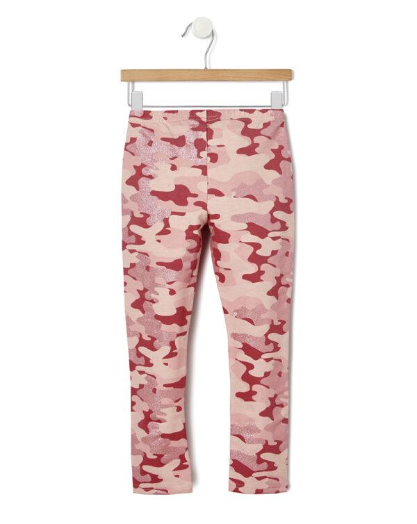 Leggings in felpa con stampa camouflage - Prénatal