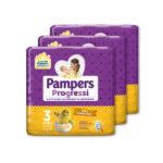 Pampers – Pannolini Progressi tg. 3 (3 pacchi, 81 pz)