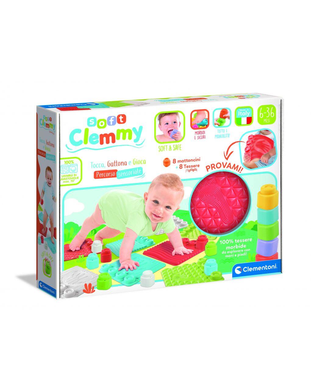 Clemmy - tocca, gattona e gioca - percorso sensoriale - Clementoni