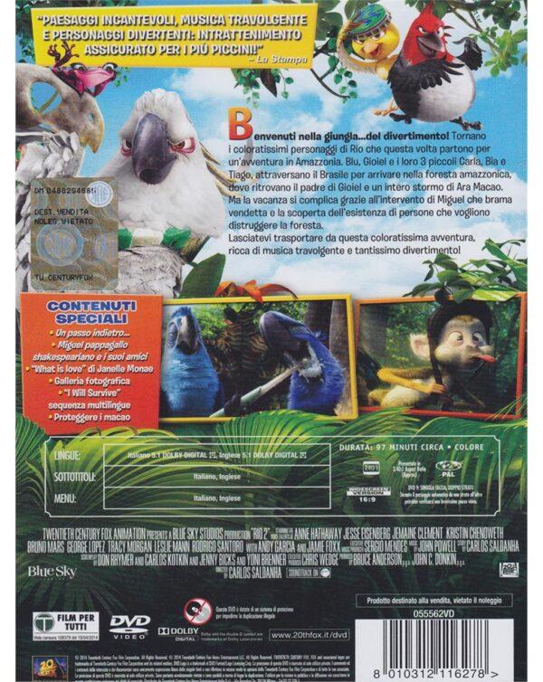 DVD RIO 2 - MISSIONE AMAZZONIA - Video Delta