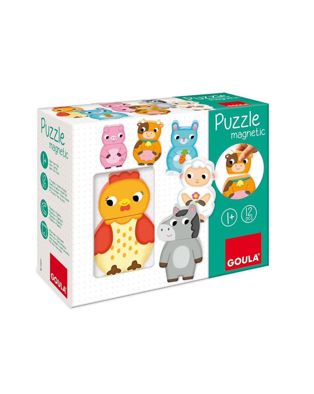 Goula - puzzle magnetico animali fattoria - Goula
