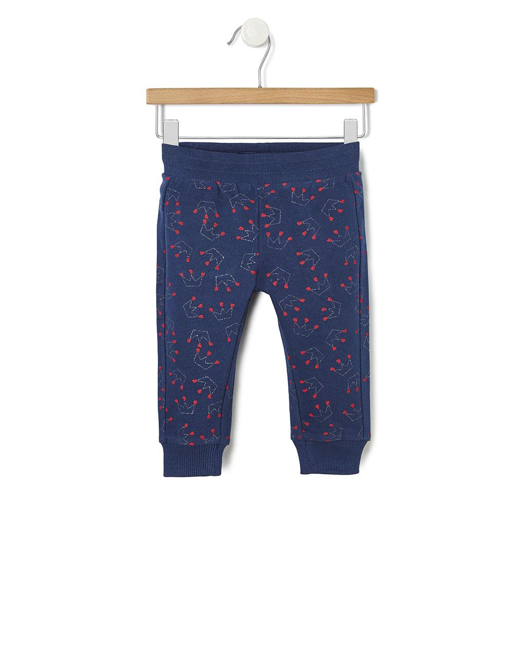 Pantalone in felpa con stampa glitter - Prénatal