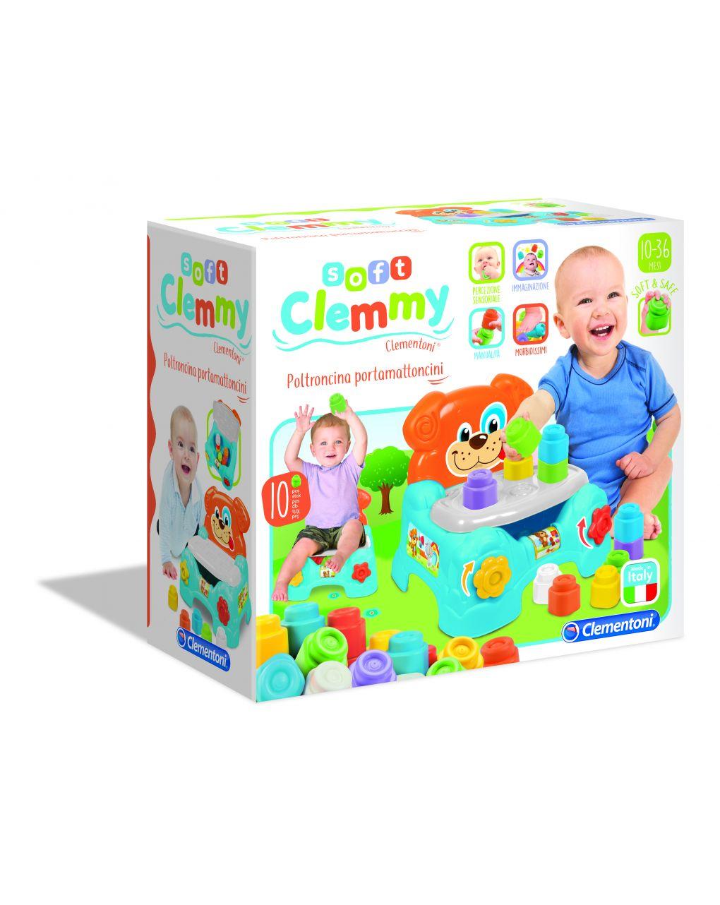 Clemmy - poltroncina porta mattoncini - Clementoni