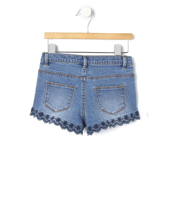 Shorts denim con ricamo - Prénatal
