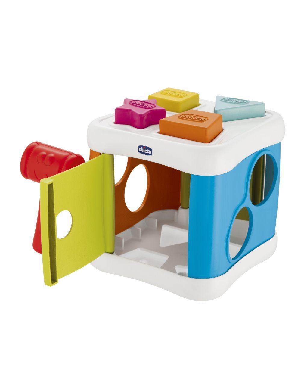 Chicco - forme incastri 2 in 1 cubo incastra & martella - Chicco
