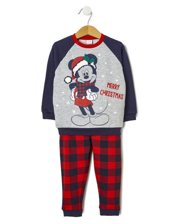 Pigiama 2 pezzi in felpa con stampa Mickey Mouse Natale - Prénatal