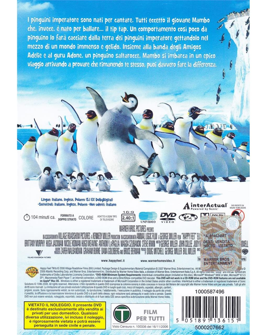 Dvd happy feet - Video Delta
