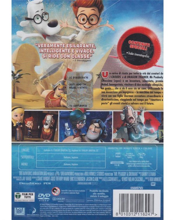DVD MR. PEABODY E SHERMAN - Video Delta