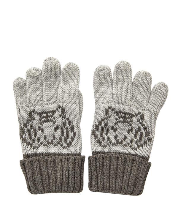 Guanti tricot con ricamo tigre - Prénatal