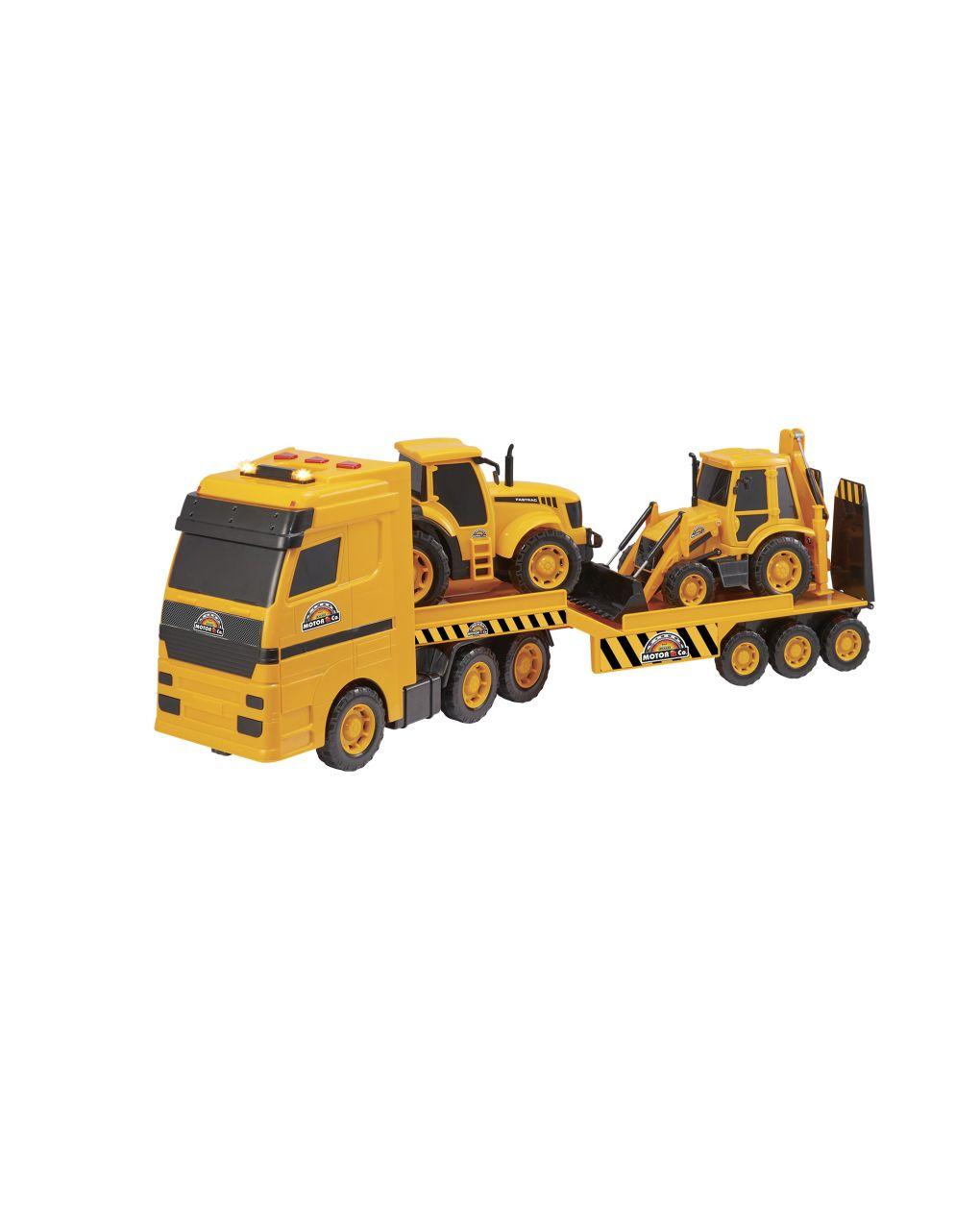 Luce e Suoni Camion Trasporto Con 4 Macchine