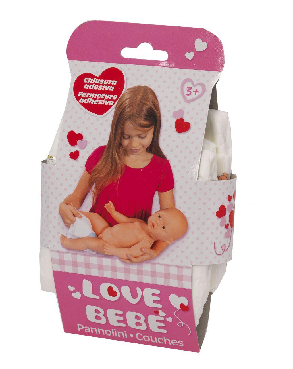 Love bebe' - 3 pannolini per bambolotto - Love Bebè