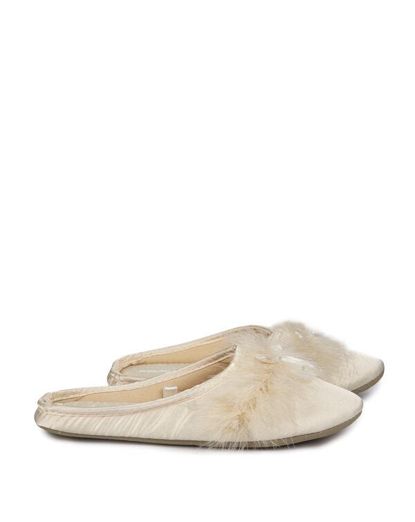 Pantofole in satin con piume - Prénatal