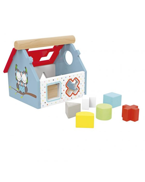 WOOD'N PLAY - CASETTA SHAPE & COLORS - Wood'N'Play