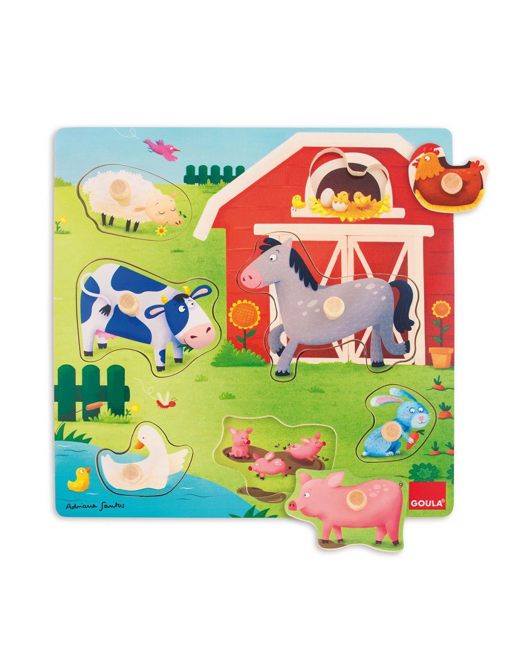 Goula - puzzle mamme e bebè fattoria - Goula