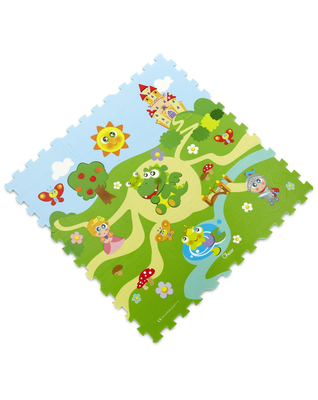 Chicco - tappeto puzzle castello - Chicco