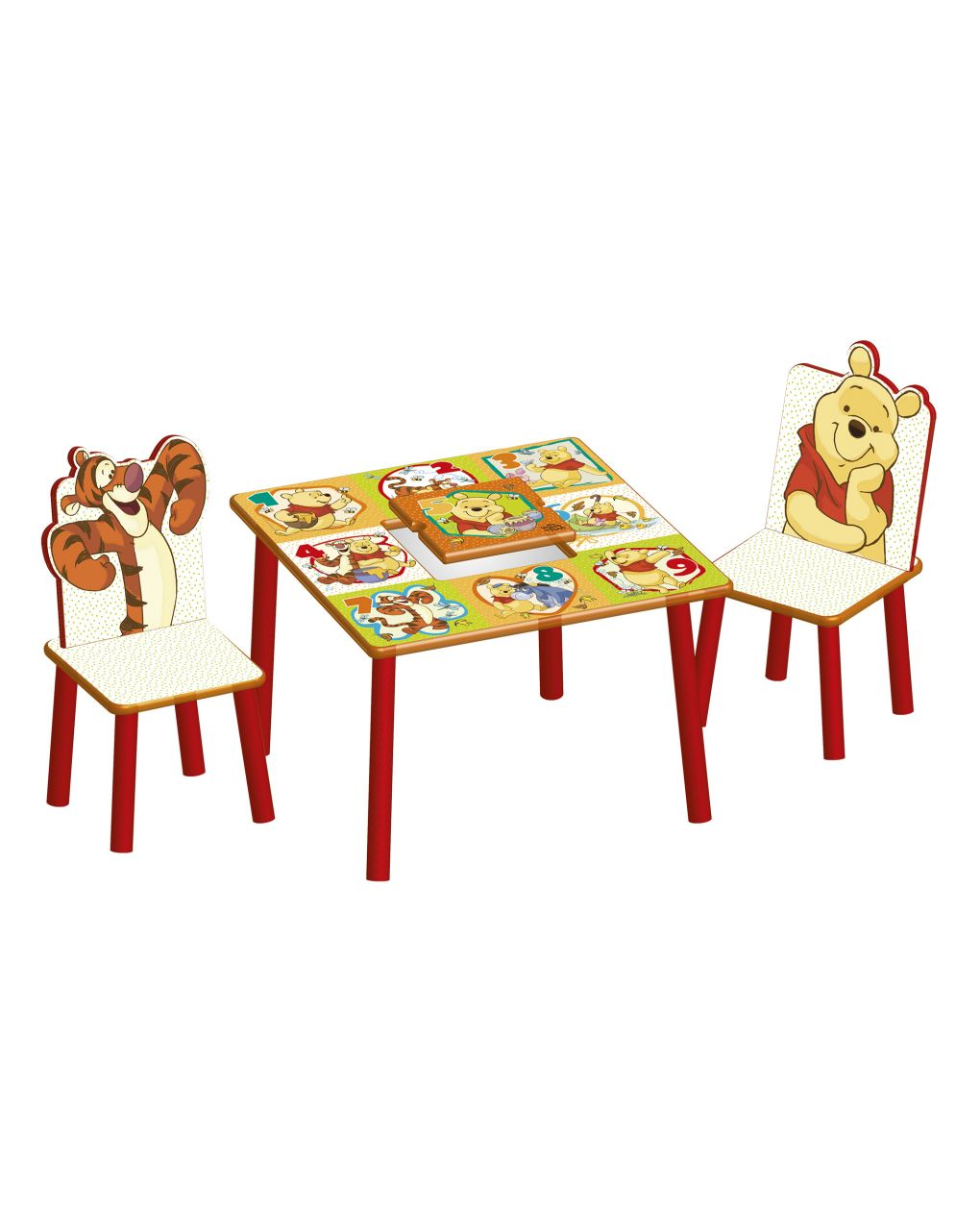 Baby smile - winnie the pooh tavolo e sedie - Baby Smile