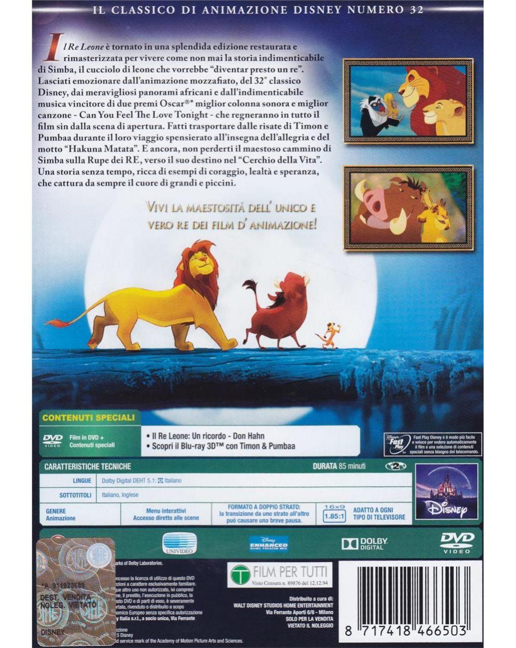 Dvd il re leone - Disney