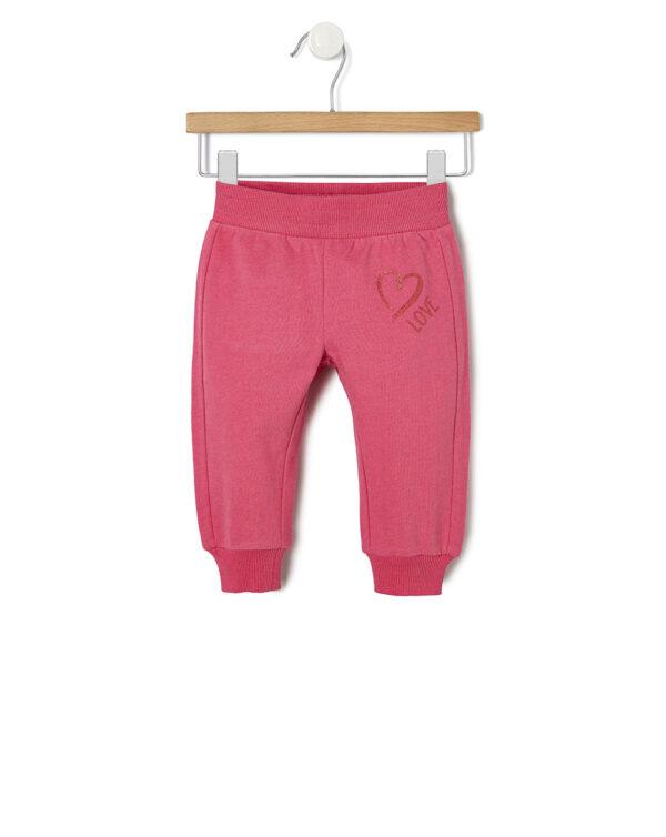 Pantalone in felpa con stampa cuore - Prénatal