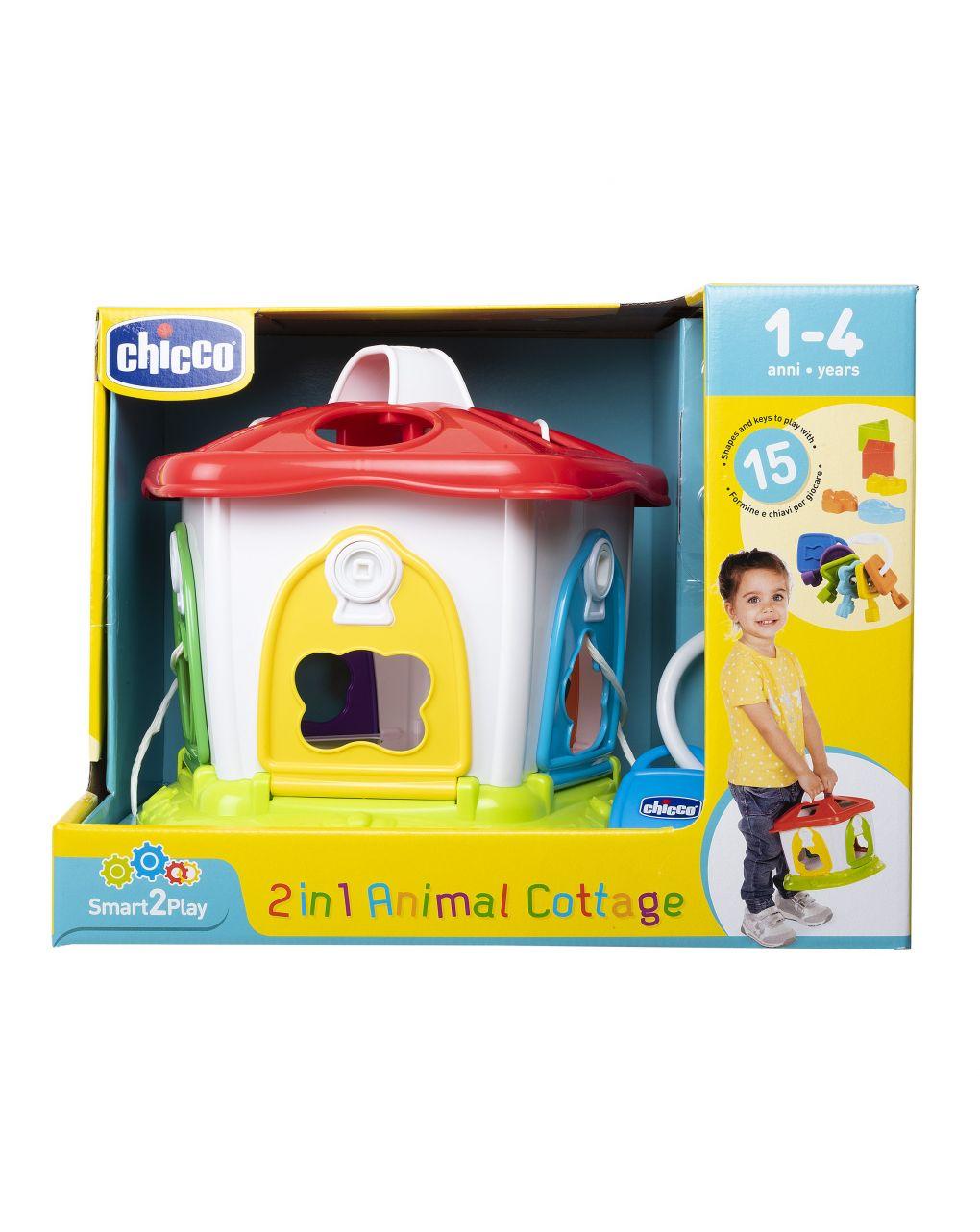 Chicco - forme incastri 2 in 1 cottage degli animali - Chicco
