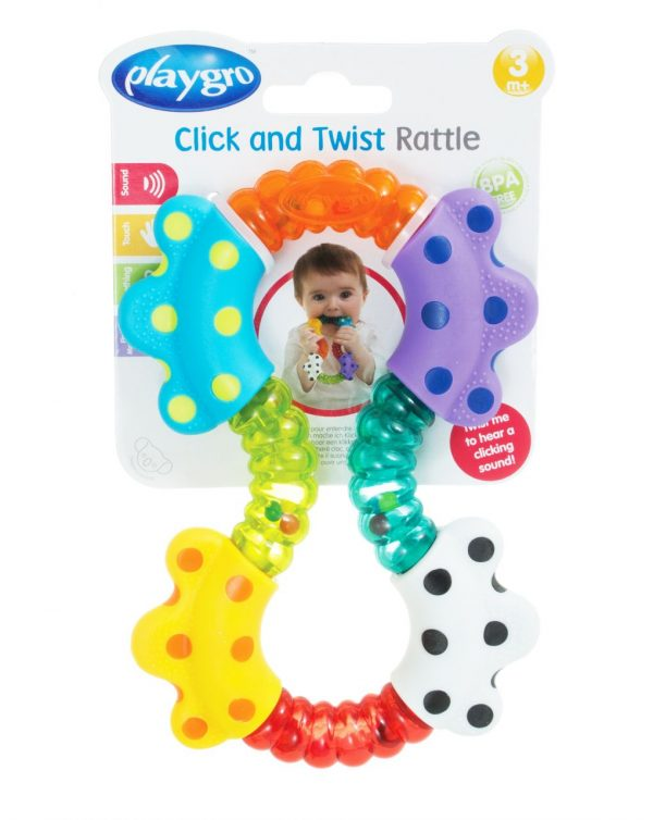 PLAYGRO - CLICK AND TWIST RATTLE - Playgro