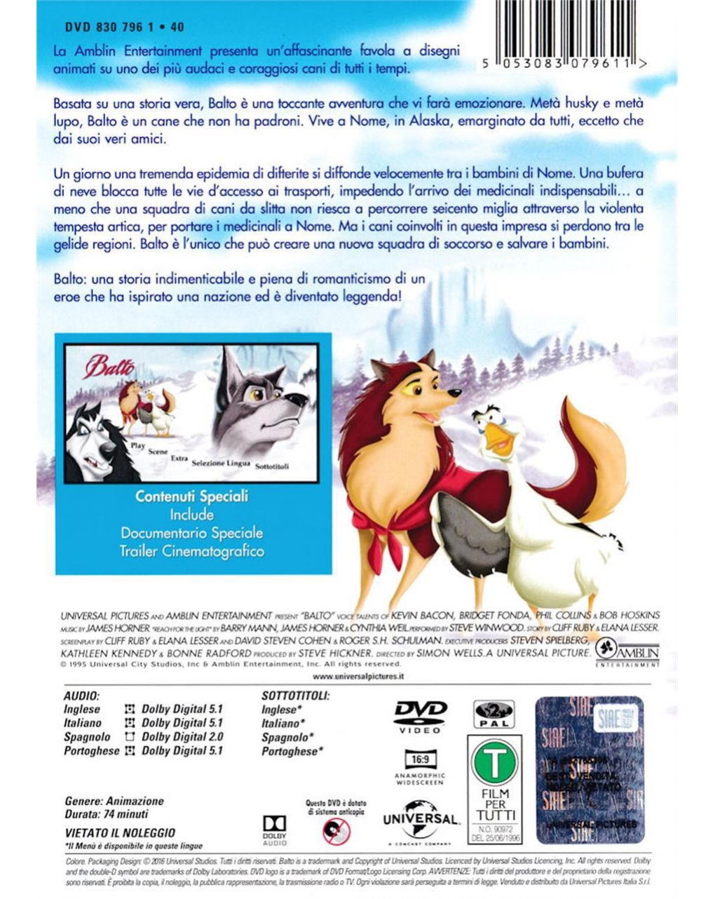 Dvd balto - Disney