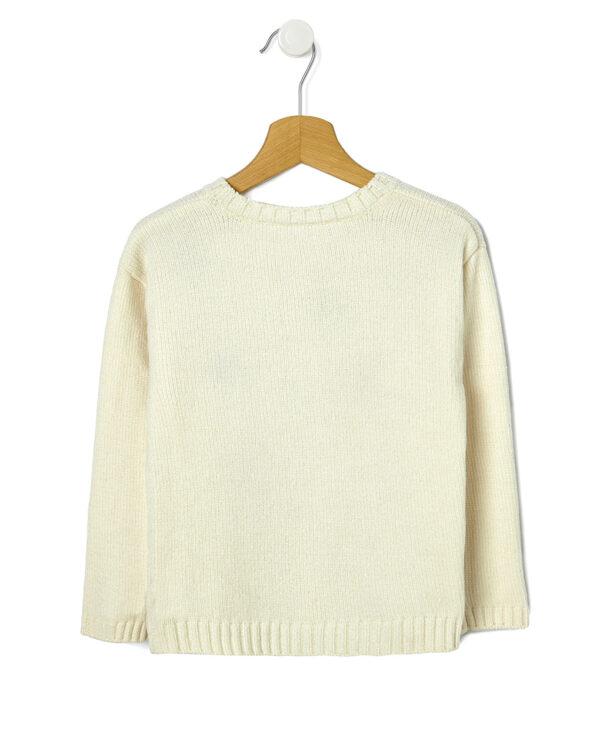 Maglia tricot in ciniglia con ricami - Prénatal