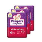 Pampers – Pannolino Progressi Mutandino tg. 4 (3 pacchi, 57 pz)