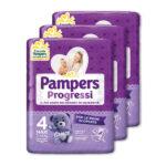 Pampers – Pannolini Progressi tg. 4 (3 pacchi, 66 pz)