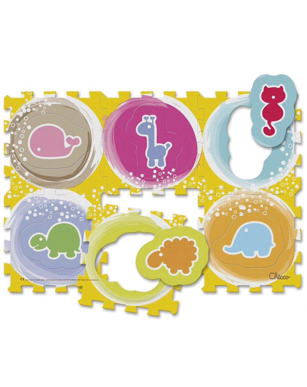 Chicco - tappeto puzzle animali - Chicco