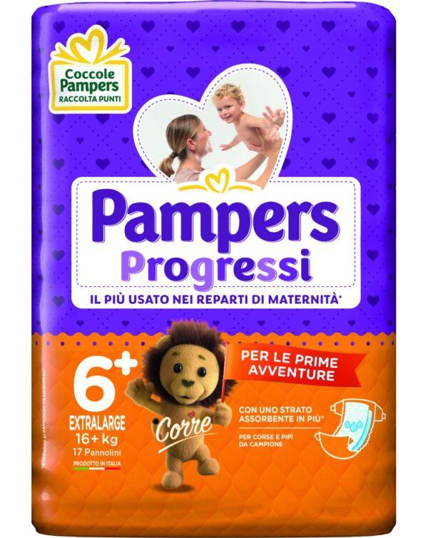 Pampers - Pannolini Progressi tg. 6+ (17 pz) - Pampers
