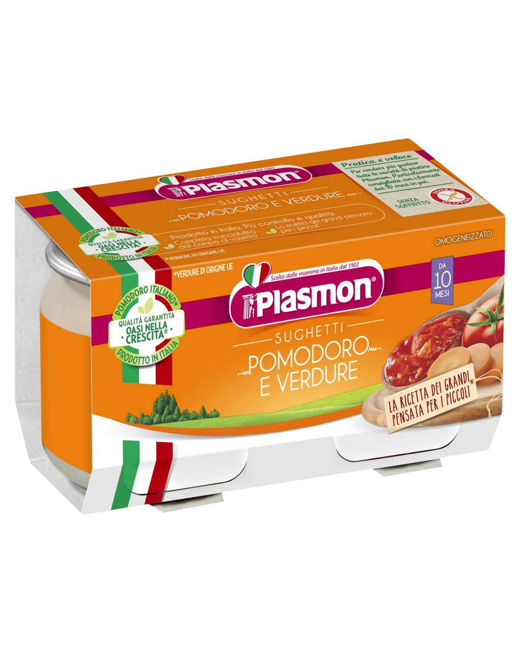 Plasmon - sughetti pomodoro e verdure 2x80g - Plasmon