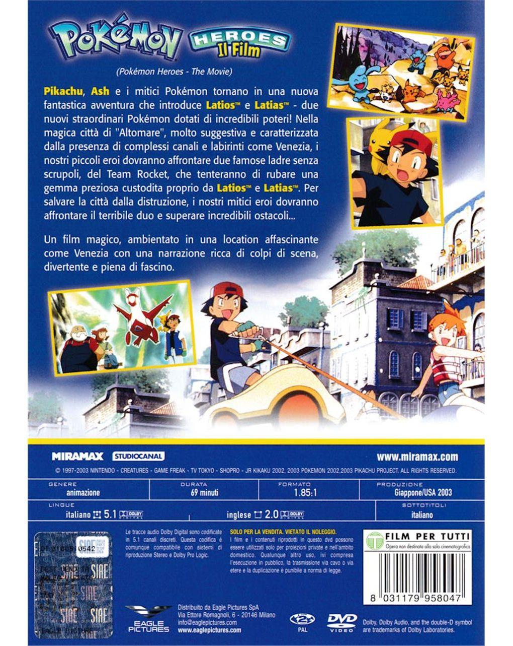 Dvd pokemon heroes - il film - Video Delta