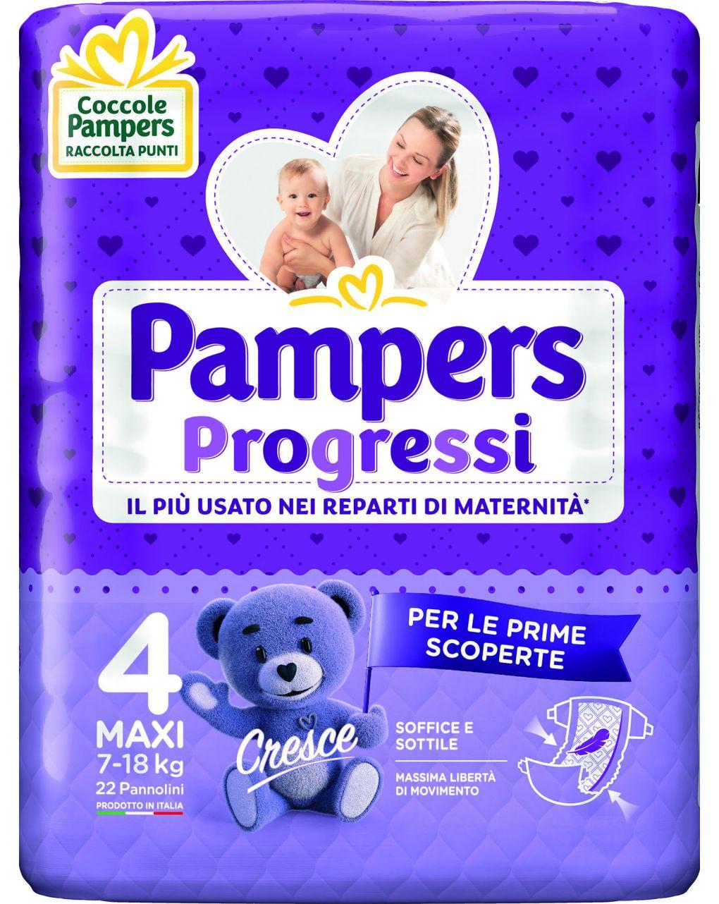 Pampers - pannolini progressi tg. 4 (22 pz) - Pampers