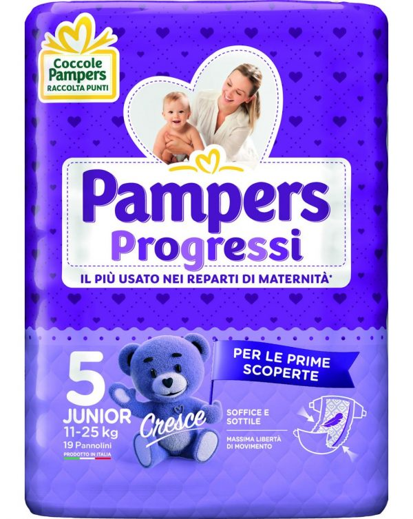 Pampers - Pannolini Progressi tg. 5 (19 pz) - Pampers