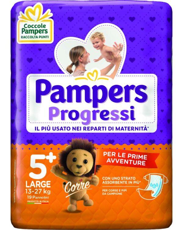 Pampers - Pannolini Progressi tg. 5+ (19 pz) - Pampers