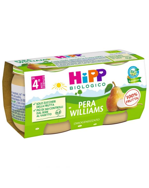 Hipp - Omogeneizzato pera Williams 100% 2x80g - Hipp